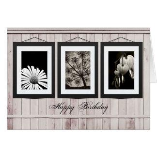 Cartão da galeria da flor (personalize fotos ou
