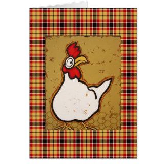 Cartão da galinha com xadrez