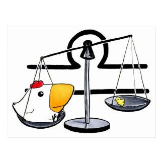 Cartão da galinha do Libra