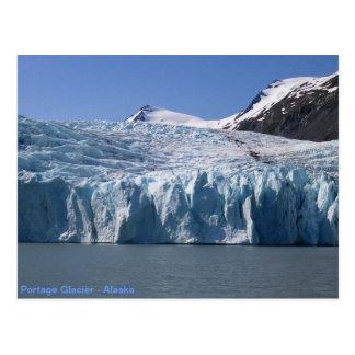 Cartão da geleira de Portage