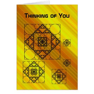 Cartão da geometria do Fractal