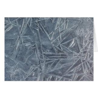 Cartão da geometria do gelo