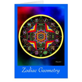 Cartão da geometria do zodíaco