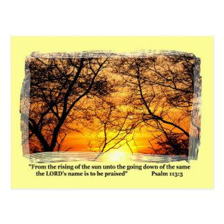 Cartão da GLÓRIA   do POR DO SOL