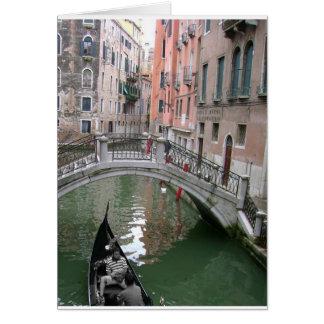 Cartão da gôndola de Veneza