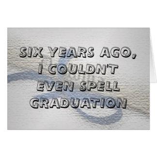 Cartão da graduação (com um ccover agradável)