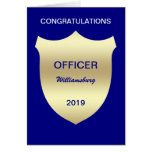 Cartão da graduação da academia de polícia do crac