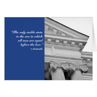 Cartão da graduação da escola de direito das