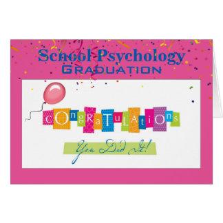 Cartão da graduação da psicologia da escola