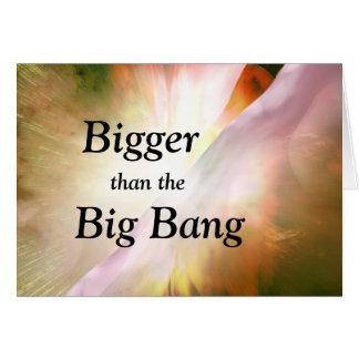 Cartão da graduação de Big Bang