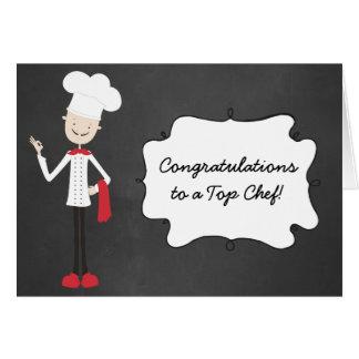 Cartão da graduação do cozinheiro do cozinheiro