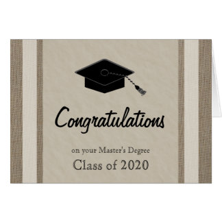 Cartão da graduação do mestrado