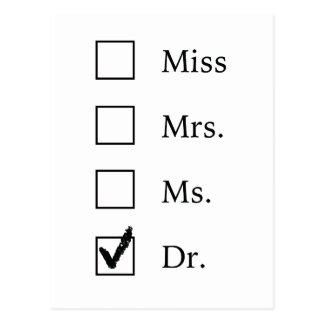 Cartão da graduação do PhD