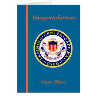 Cartão da graduação do recruta da guarda costeira
