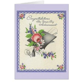 Cartão da graduação do vintage