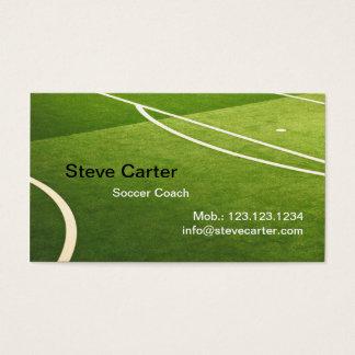 Cartão da grama verde do futebol, do treinador de