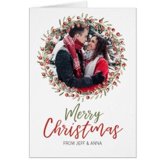 Cartão da grinalda | da baga do Natal