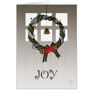 Cartão da grinalda da videira do Natal