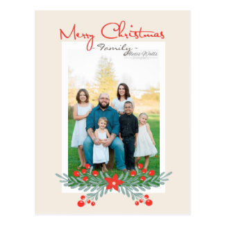Cartão da grinalda do Feliz Natal