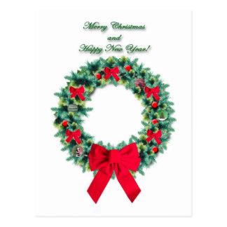 Cartão da grinalda do Natal