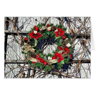 Cartão da grinalda do Natal do país dos
