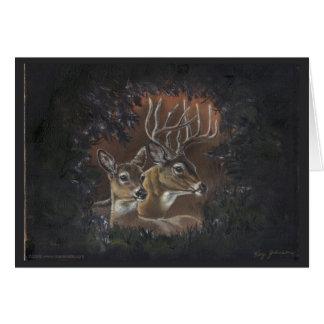Cartão da grinalda dos cervos
