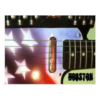 Cartão da guitarra de Houston Cartão Postal