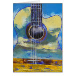 Cartão da guitarra e das nuvens