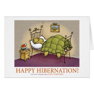 Cartão da hibernação do Natal