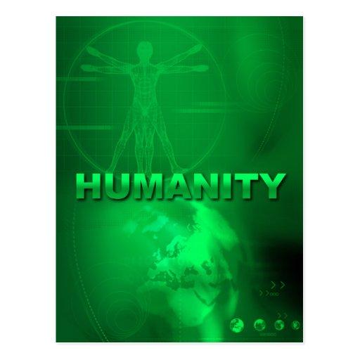 Cartão da humanidade cartão postal