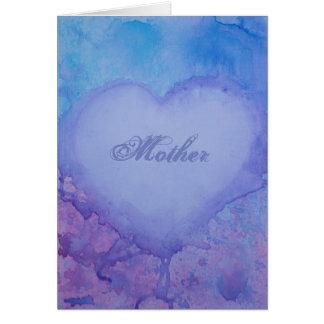 Cartão Cartão da humildade do dia das mães