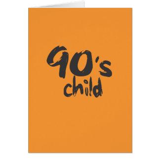 cartão da idade da criança dos anos 90