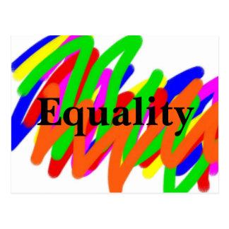 Cartão da igualdade do Scribble do arco-íris