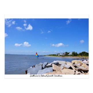 Cartão da ilha de Sullivan, South Carolina