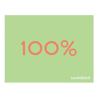 Cartão da ilha do amor de 100%