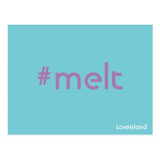 Cartão da ilha do amor do derretimento de Hashtag