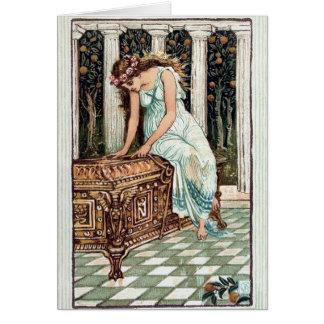 Cartão da ilustração da caixa de Pandora do