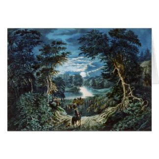 Cartão da ilustração da montanha do vintage (vazio