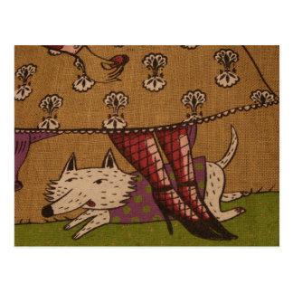 Cartão da ilustração do cão