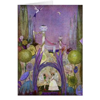 Cartão da ilustração do conto de fadas de