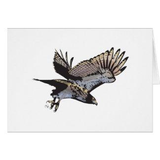 Cartão da ilustração do falcão do vôo