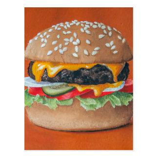 Cartão da ilustração do Hamburger