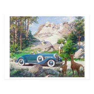 Cartão da ilustração do vintage
