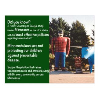 Cartão da imunização das leis de Minnesota Cartão Postal