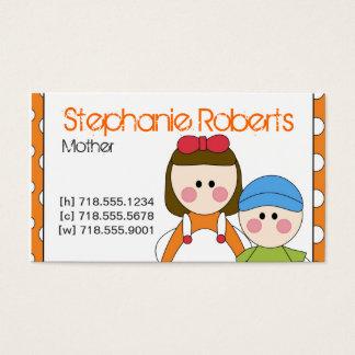 Cartão da informação das mamães