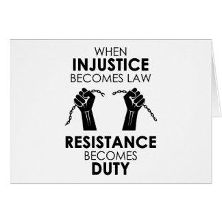 Cartão da injustiça