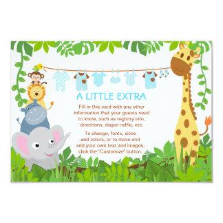 Cartão da inserção do chá de fraldas do menino do convites personalizado