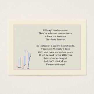 Cartão da inserção do rosa do poema do livro do