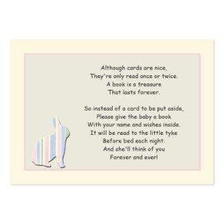 Cartão da inserção do rosa do poema do livro do ch modelos cartao de visita
