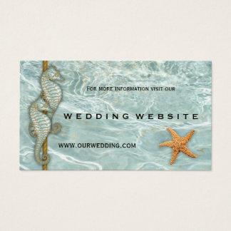 Cartão da inserção do Web site do casamento de